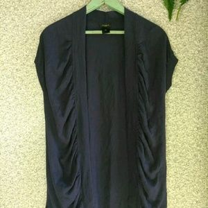 Ann Taylor Blue Open Cardigan Sweater Size Medium.